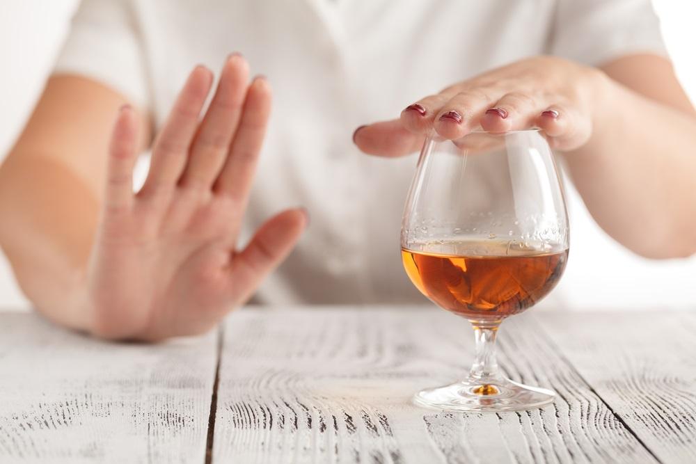 Probeer alcohol te vermijden